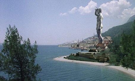 Bức tượng nguyên mẫu xa xưa được thiết kế lại bằng đồ họa máy tính.