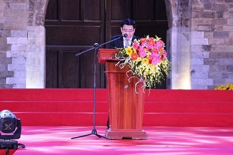 Ông Đỗ Đình Hồng phát biểu tại buổi lễ khai mạc