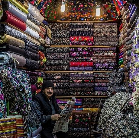 Cửa hàng bán vải.