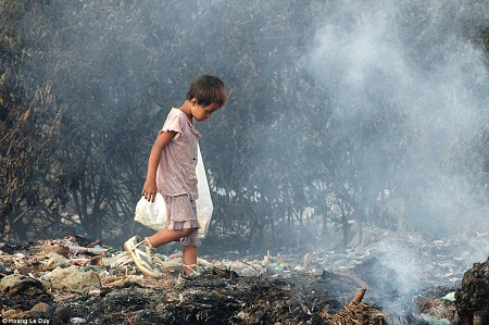 Một cậu bé đi nhặt rác - Tác giả: Hoàng Lê Duy.