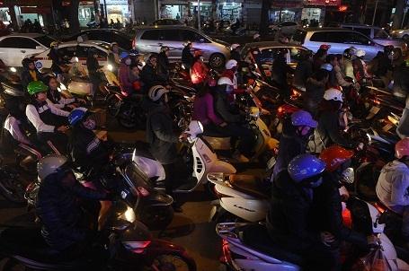 Ảnh chụp cảnh tắc đường ở Hà Nội đăng trên trang Buzzfeed trong tháng 10/2015.