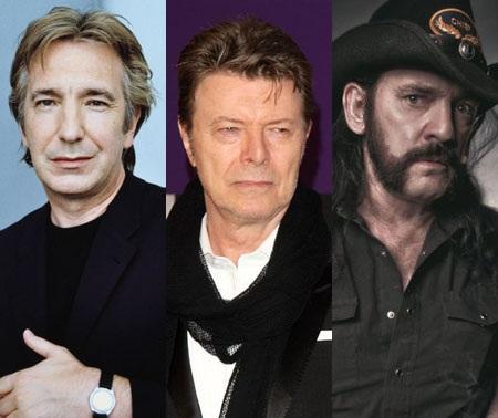 Nam diễn viên của loạt phim Harry Potter - Alan Rickman và hai ca sĩ - David Bowie và Lemmy Kilmister đều đã qua đời vì bệnh ung thư. Sự ra đi của họ diễn ra liên tiếp chỉ trong vòng chưa đầy 3 tuần.