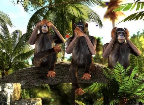 """Triết lý sâu sắc đằng sau 3 chú khỉ """"che mắt, che tai, che miệng"""" - 3"""