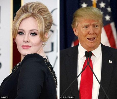 Mới đây, Adele đã lên tiếng yêu cầu ứng viên tranh cử Tổng thống - tỉ phú Donald Trump - dừng việc sử dụng các bài hát của cô trong các chiến dịch vận động tranh cử ngôi vị Tổng thống Mỹ.