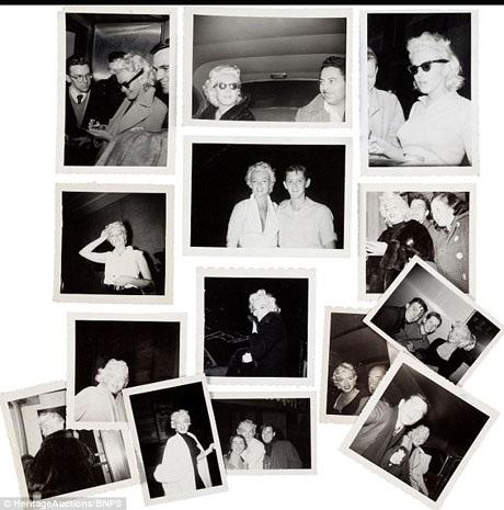 """Tác giả của những bức ảnh - James Collins - là một thành viên trong nhóm """"Monroe 6"""" - một nhóm fan trung thành của Marilyn, 6 chàng thanh niên đã mê mải theo chân nữ diễn viên đi vòng quanh thành phố New York."""
