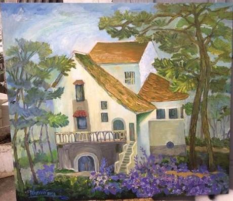 """""""Chiều Đà Lạt"""", tranh sơn dầu, Phan Thanh Mai"""