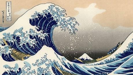 """Bức """"Sóng lớn"""" của Katsushika Hokusai."""