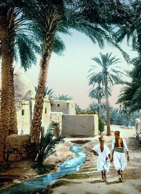 Thị trấn cổ ở thành phố Biskra, Algeria.
