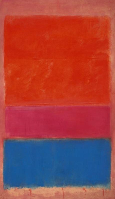 """Bức """"Số 1 (Đỏ và Xanh)"""" của Mark Rothko có giá 75,1 triệu đô (1668 tỉ đồng)."""