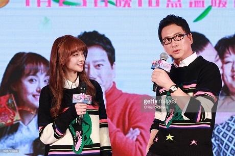Nữ diễn viên Trịnh Sảng và cha.
