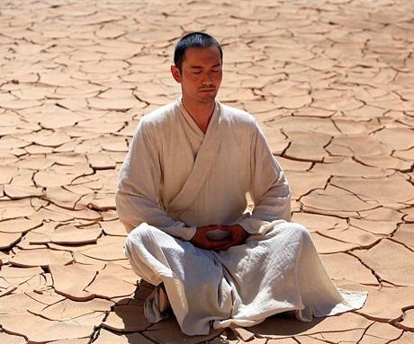 Tạo hình của Huỳnh Hiểu Minh trong vai nhà sư Huyền Trang.