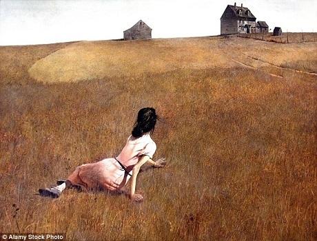 """Tình trạng đau ốm ở người phụ nữ đã được họa sĩ Andrew Wyeth khắc họa tinh tế trong bức tranh nổi tiếng """"Thế giới của Christina"""". Giờ đây, các nhà thần kinh học tin rằng họ đã có thể lý giải tình trạng của cô gái."""