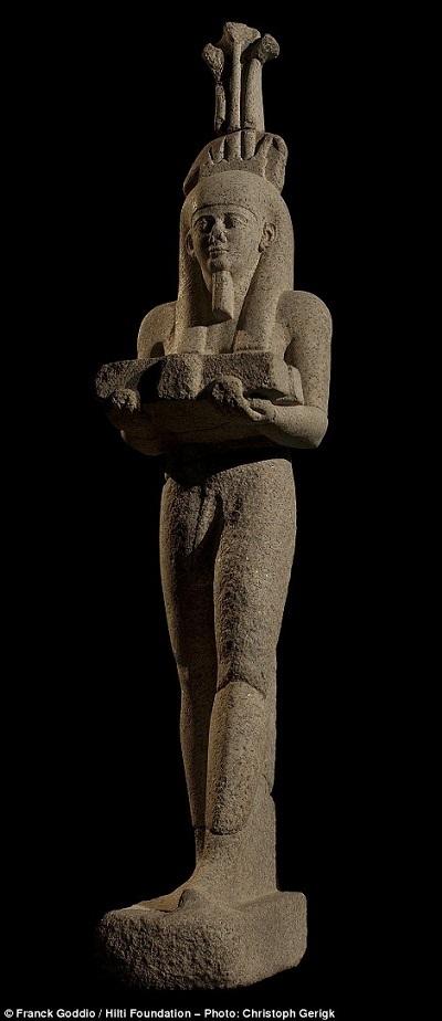 Bức tượng thần Hapy còn tương đối hoàn hảo. Người ta đã tiến hành những công đoạn phục chế để bức tượng trở lại với vẻ đẹp ban đầu sau hơn 1.000 năm nằm sâu dưới đáy sông.