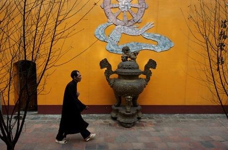 Một góc chùa Thiên Trù, thuộc Chùa Hương.