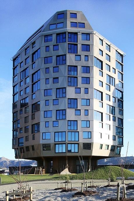 Đây là một trong ba khu căn hộ nằm trong khu dự án Rundeskogen ở Stavanger, Na Uy.