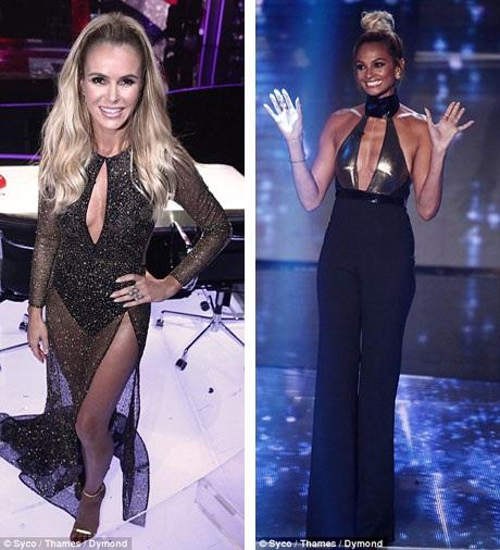 Nhà chức trách đã đưa ra quyết định sẽ không tiến hành điều tra đối với chương trình xoay quanh vấn đề trang phục của hai nữ giám khảo Amanda (trái, 45 tuổi) và Alesha (phải, 37 tuổi).
