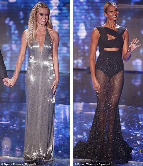 Hai nữ giám khảo của Tìm kiếm Tài năng Anh đã liên tục gây chú ý với những điểm nhấn trang phục táo bạo tại mùa giải năm nay.