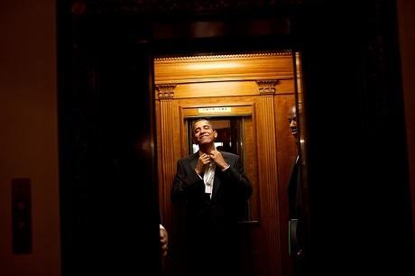 Bên trong thang máy Nhà Trắng.