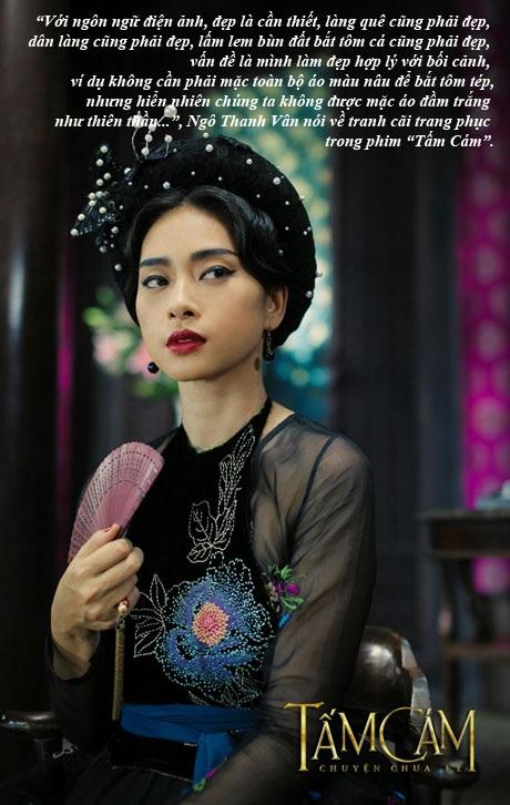 Trang phục phim Tấm Cám gây tranh cãi, Ngô Thanh Vân lên tiếng