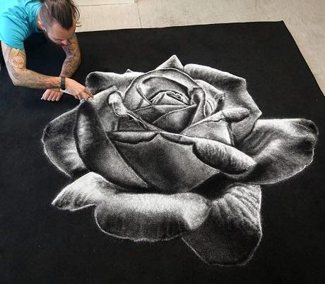 Bông hồng muối.