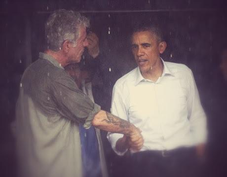 Cuộc gặp trước khi ông Obama rời Hà Nội.