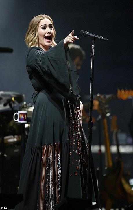 Adele biểu diễn trước đám đông khán giả hàng nghìn người vào tối thứ 7 vừa qua. Glastonbury là một lễ hội âm nhạc kéo dài trong 5 ngày với khoảng 175.000 lượt khách tham dự.