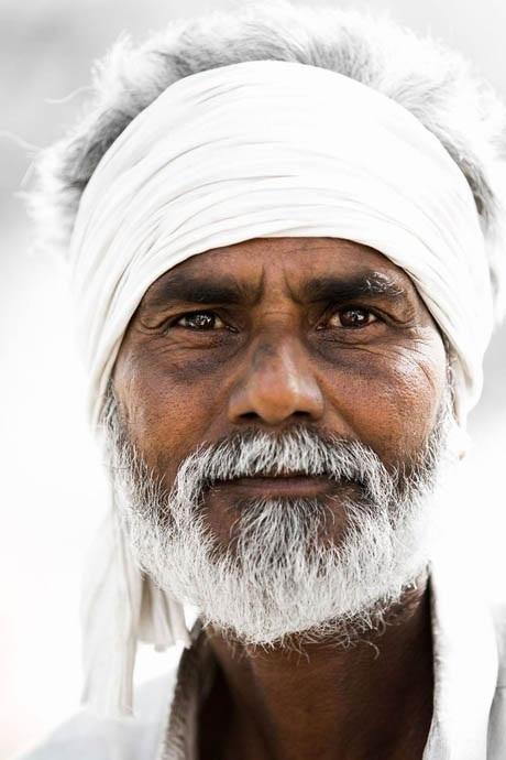 Ông cụ ở thành phố Jaipur, bang Rajasthan, Ấn Độ.