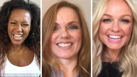 """Spice Girls 5 thành viên giờ trở thành GEM 3 thành viên. Từ trái sang phải: Mel B, Geri Horner và Emma Bunton. Ba cựu thành viên Spice Girls đã khẳng định rằng họ sẽ tái hợp và sẽ cùng nhau tổ chức sự kiện kỷ niệm 20 năm ngày Spice Girls ra mắt đĩa đơn """"Wannabe"""". Kế hoạch này đã được chia sẻ trong đoạn clip ngắn đăng tải hồi tuần qua."""
