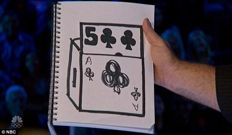 Dorenbos khiến lá bài mà Ne-Yo lựa chọn từ từ xuất hiện một cách đầy ma thuật trên một tờ giấy trắng, dù anh chưa từng được biết lá bài mà Ne-Yo lựa chọn là quân nào.