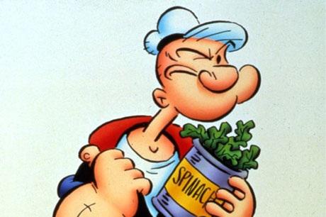 Thủy thủ Popeye thường trở nên khỏe mạnh phi thường, cơ bắp cuồn cuộn sau khi ăn rau chân vịt, nhưng thực tế rau chân vịt chỉ chứa rất ít hàm lượng protein. Vậy làm sao loại rau này có khả năng đưa lại cho Popeye nhiều cơ bắp và sức lực đến vậy để đấu với Pluto? Hẳn là Popeye đã giấu giếm bí mật thực sự về chế độ ăn uống cải thiện thể hình và sức khỏe của mình.