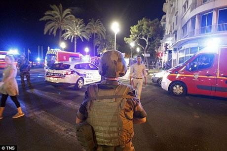 """Ngay sau vụ khủng bố, Tổng thống Pháp François Hollande đã có một bài phát biểu chính thức, trong đó, ông khẳng định: """"Nước Pháp đang rơi nước mắt, nước Pháp đang đau, nhưng nước Pháp mạnh mẽ và sẽ còn mạnh mẽ hơn nữa""""."""