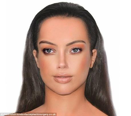 Gương mặt được cho là hoàn hảo lý tưởng, đáp ứng các chuẩn mực về tỉ lệ vàng với chiếc mũi của Amber Heard, lông mày của Kim Kardashian, mắt của Scarlett Johansson, khung xương mặt của Rihanna, đôi môi của Emily Ratajkowski và vầng trán của Kate Moss.