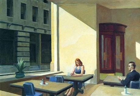 """Bức """"Sunlights In Cafeteria"""" (Ánh nắng trong quán cà phê)"""
