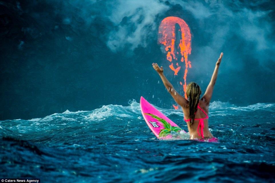 Ở tuổi 30, Alison Teal trở thành người đầu tiên bơi bên cạnh dòng nham thạch của ngọn núi lửa Kilauea.