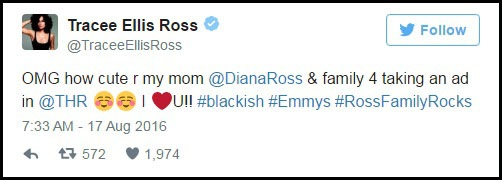 Nữ danh ca Diana Ross mua cả trang báo để chúc mừng con - 3