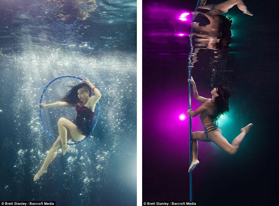 Thậm chí có những người đẹp xuất hiện trong bộ ảnh còn không biết bơi, họ chỉ gắng hết sức nín thở dưới nước và thực hiện được những bức hình đẹp với tạo dáng nghệ thuật.