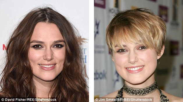 Keira Knightley tin rằng chính việc liên tục thay đổi màu tóc để phục vụ cho các vai diễn khiến tóc cô ngày càng mỏng và thưa.