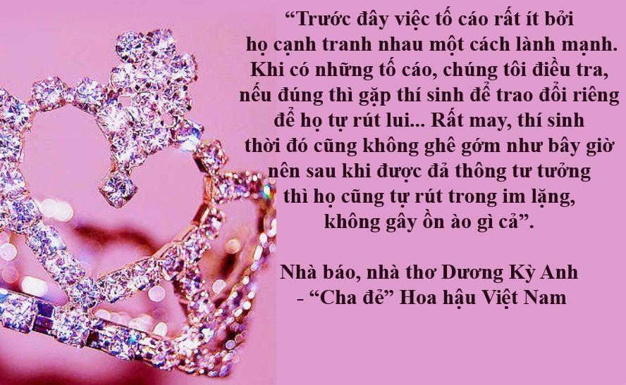 """Những vụ phát giác gây ồn ào ở các cuộc thi Hoa hậu của Việt Nam - Trong lịch sử các cuộc thi Hoa hậu ở Việt Nam, dù BTC lẫn BGK đã nỗ lực để tạo ra sự công bằng, khách quan và trung thực nhưng vẫn có không ít thí sinh dùng """"thủ thuật"""" để """"qua mặt"""". Kết quả là những phát giác về sự không trung thực của thí sinh đã khiến dư luận ồn ào."""