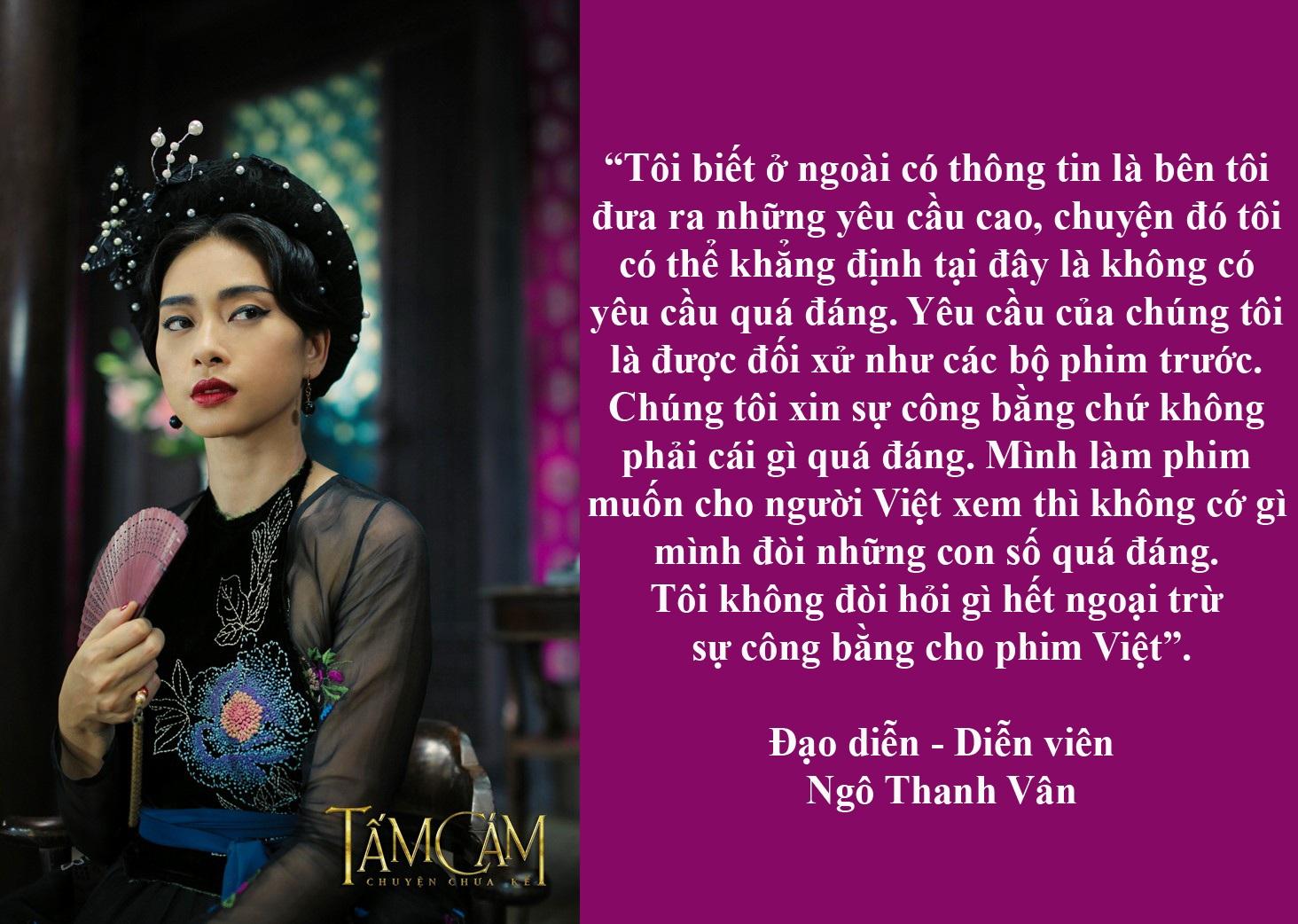 """Vì sao CGV không phát hành phim """"Tấm Cám - Chuyện chưa kể""""? - Trong buổi họp báo chiều 17/8 tại TPHCM, nhà sản xuất, đạo diễn Ngô Thanh Vân đã bật khóc khi chia sẻ rằng bộ phim không được phát hành tại cụm rạp của CGV. Tuy nhiên, phía CGV Việt Nam cho biết đơn vị này không từ chối chiếu phim Tấm Cám - Chuyện chưa kể. Thực hư ra sao?"""