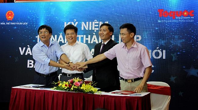 Lãnh đạo các báo ký thỏa thuận hợp tác với báo điện tử Tổ quốc