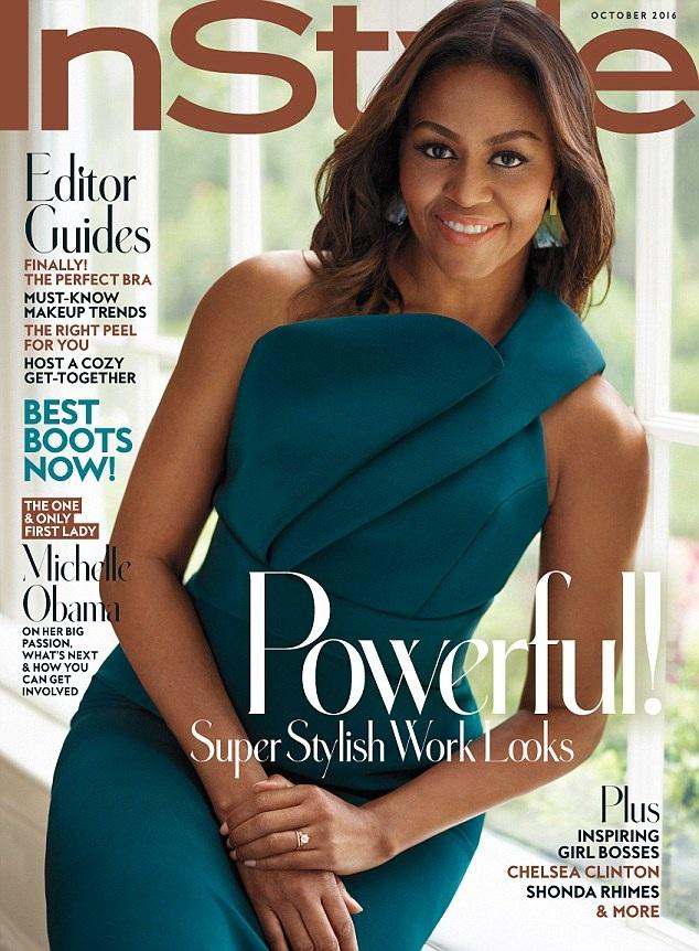 Đệ nhất phu nhân Michelle gần đây cũng xuất hiện trên trang bìa ấn bản tháng 10 của tờ tạp chí thời trang phụ nữ InStyle, trong ấn bản này, bà bàn nhiều về tầm quan trọng của giáo dục dành cho nữ giới.