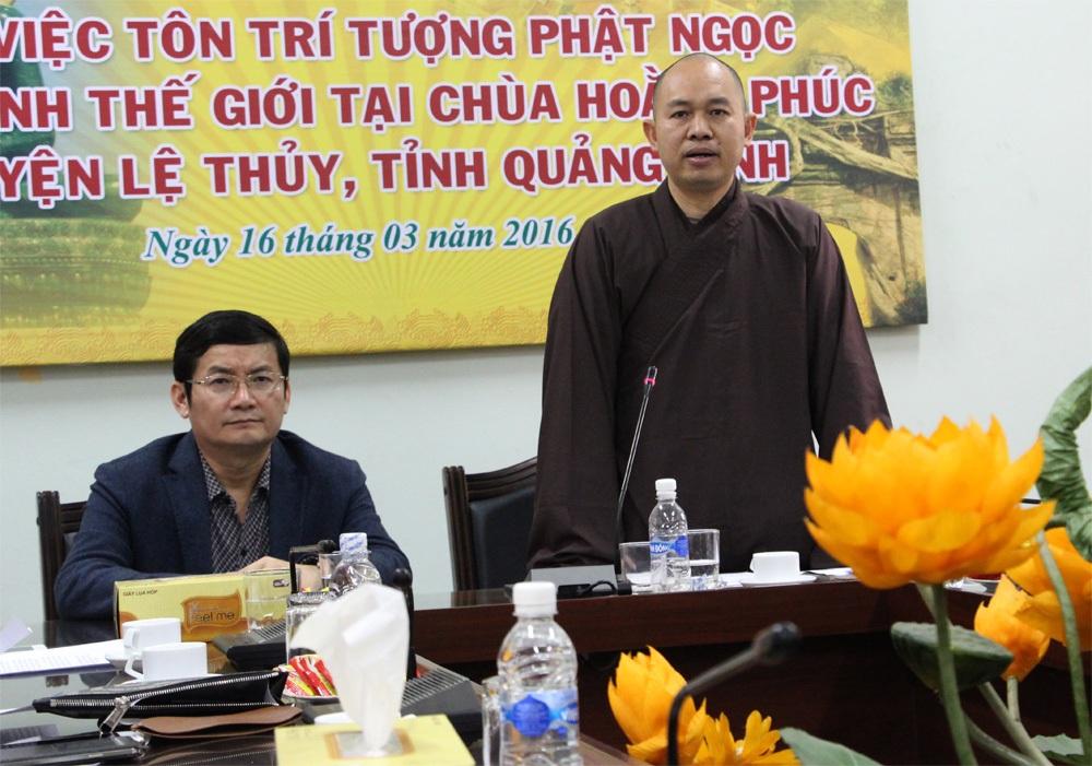 Thượng tọa Thích Đức Thiện cho biết: Mọi công việc chuẩn bị cho sự kiện Phật Ngọc hòa bình thế giới tôn trí tại Chùa Hoằng Phúc đã hoàn tất.