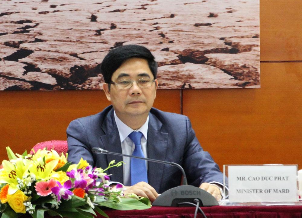 Bộ trưởng Cao Đức Phát cho biết: Trung Quốc tiếp tục xả nước hỗ trợ ĐBSCL chống hạn và đẩy mặn, thời gian xả nước từ 21/4 đến 31/5/2016