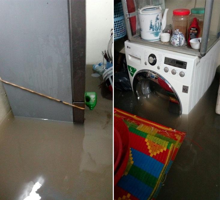 Khoảng 3 tháng trở lại đây, các hộ dân sinh sống tại ngách 16, ngõ 29 phố Khương Hạ (Khương Đình, Thanh Xuân - Hà Nội) thường xuyên phải sống cảnh hễ mưa là ngập lụt. Nguyên nhân được cho là 1 công trình xây dựng gần đó làm hỏng đường cống thoát nước.