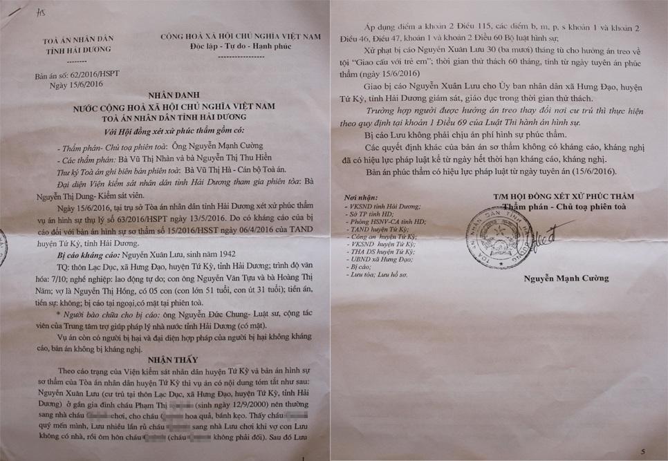 Từ bản án sơ thẩm 30 tháng tù giam, TAND tỉnh Hải Dương sửa án, cho bị cáo hưởng án treo khiến dư luận xã hội bức xúc, giới luật sư bất ngờ.