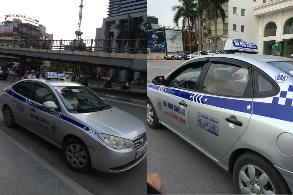 Taxi Hà Nội Sao do Sở GTVT tỉnh Hưng Yên cấp phép nhưng cũng thường xuyên hoạt động trên địa bàn Hà Nội.