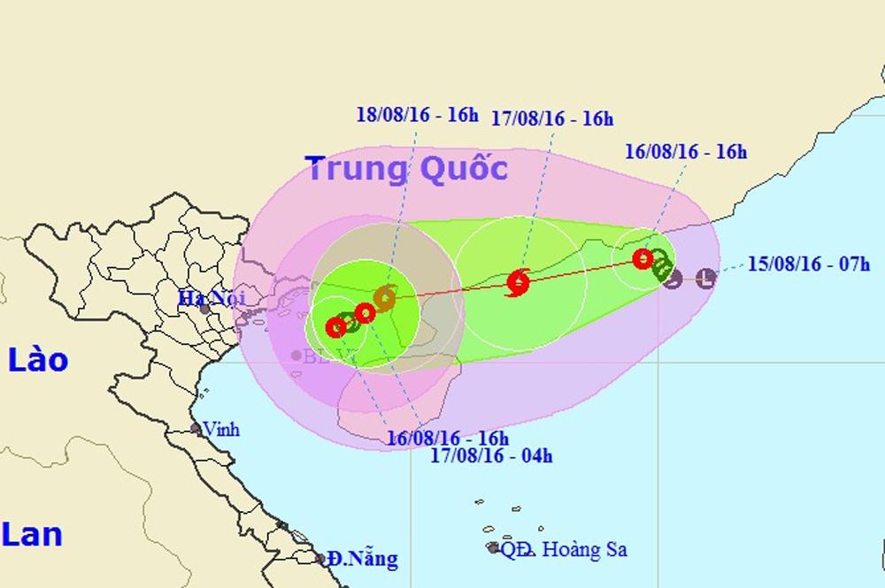 Vị trí và hướng di chuyển của 2 áp thấp nhiệt đới trên Biển Đông (Ảnh: NCHMF).