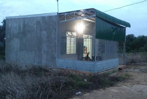 Căn nhà nơi phát hiện thi thể của anh Lộc đang phân hủy