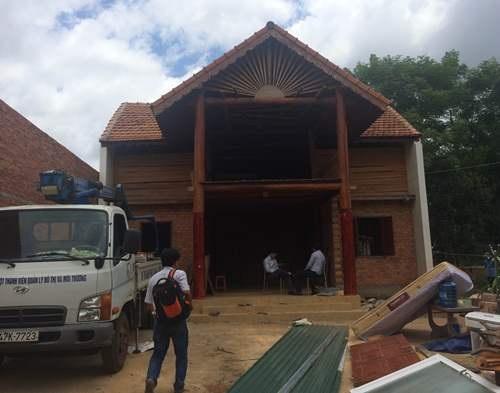 Căn nhà của ông Hải trước khi bị cưỡng chế