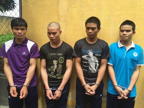 Băng cướp 4 anh em ruột tại cơ quan công an (ảnh cơ quan chức năng cung cấp)